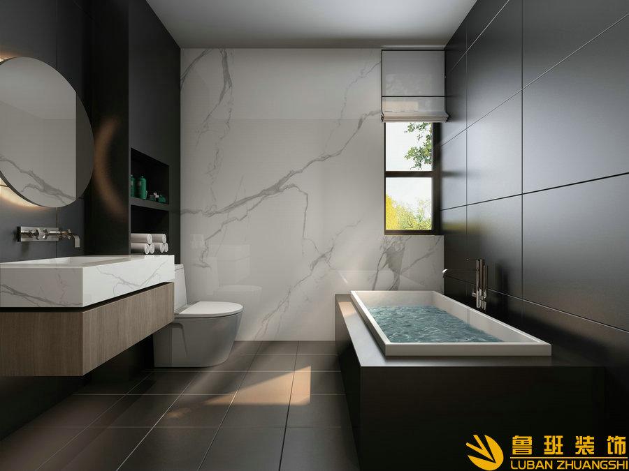 中州中央公园120平法式设计装修卫生间