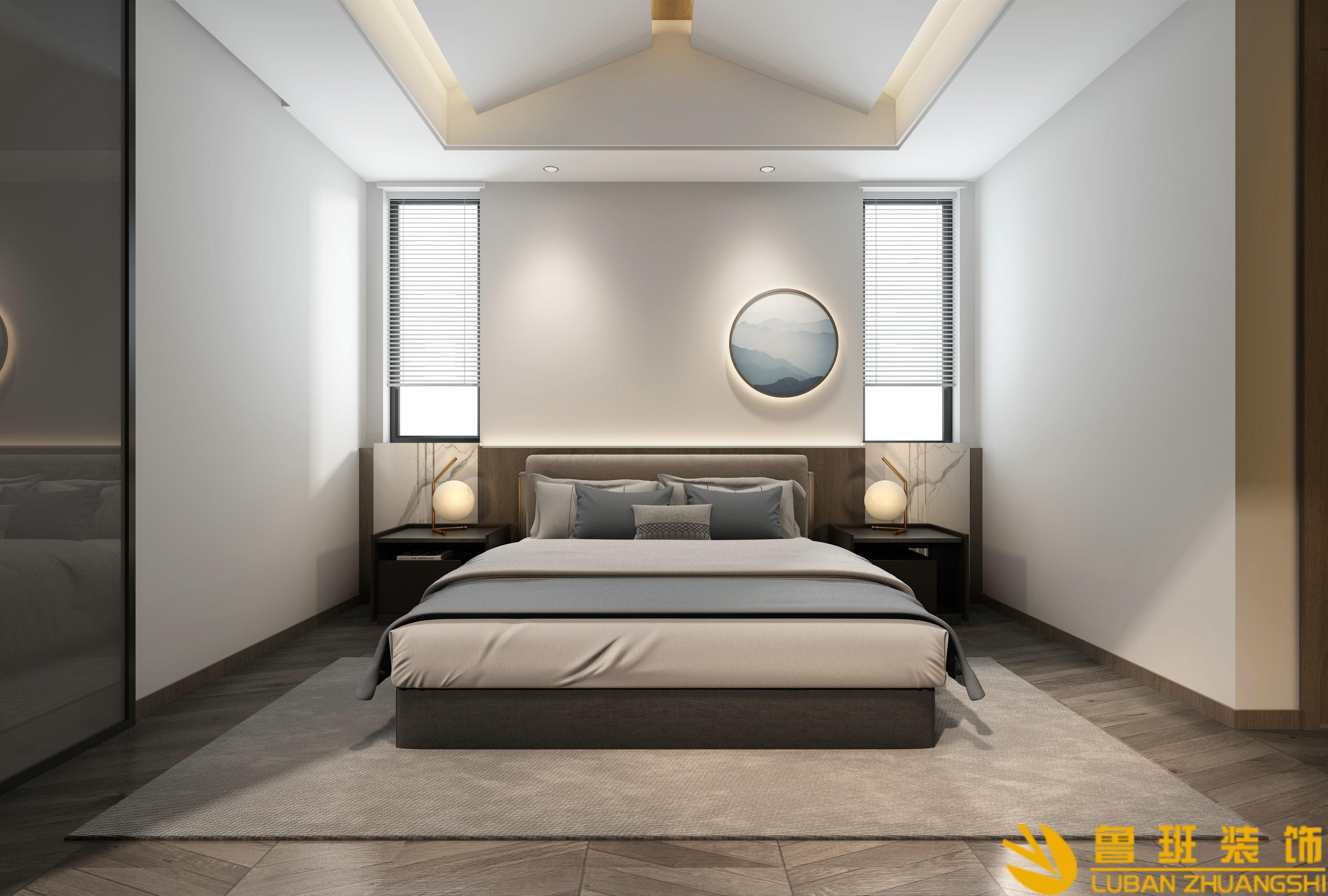 青城山居两室三卫118.3平米现代新中式卧室