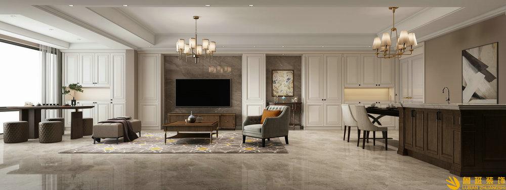 时代金科名苑130平米新房装修设计效果图
