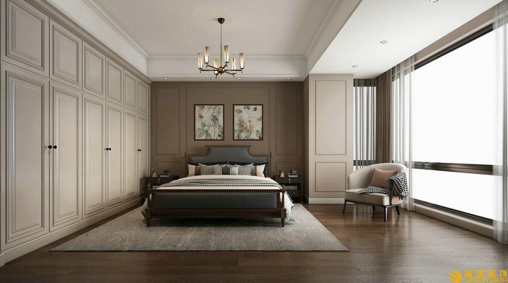 时代金科名苑两室两卫130平米现代美式卧室