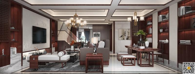 新中式别墅装修设计效果图3.jpg